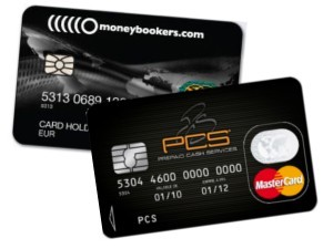 Deux cartes Mastercard Prepaid disponibles en France : la carte de PCS® et la carte Moneybookers®.
